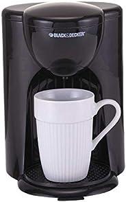 Black+Decker 330W Coffee Maker, One Cup Coffee Machine for Drip Coffee and Espresso with Coffee Mug, DCM25-B5