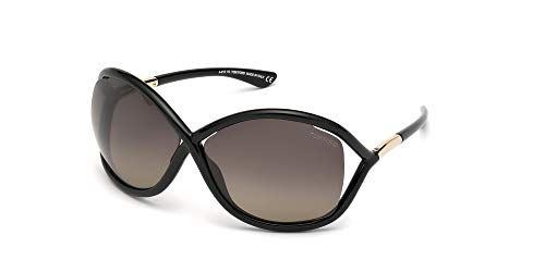 Tom Ford Sonnenbrillen Whitney FT 0009 Black Gold/Smoke Damenbrillen