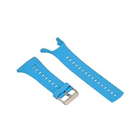 BZLine® Luxueux Caoutchouc Bracelet de Remplacement avec Fermeture de Boucle