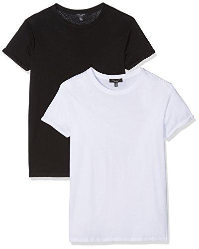 New Look Tall Damen T-Shirts Boyfriend Black (Black Pattern)
