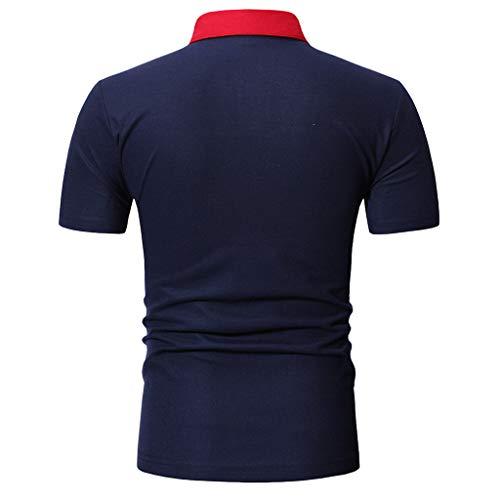 Wieder Sweatshirt (WWricotta Herren Poloshirt Langarm Polohemd Polo Shirts mit Streifen Polokragen Mode-Sweatshirt Kurzarm Top Fashionable T-Shirt)