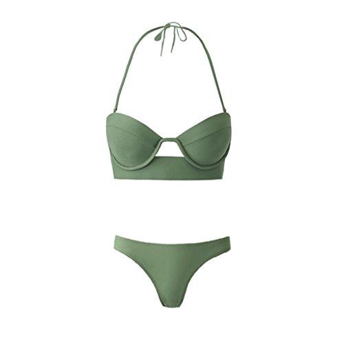 Haodan electronics Bikini Sexy Swimsuit, Three-point Swimsuit Small Chest Steel Plate Swimsuit, European and American Split Spa Swimsuit