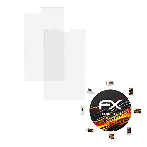 atFolix Schutzfolie kompatibel mit Bluboo S1 Bildschirmschutzfolie, HD-Entspiegelung FX Folie (3er Set)