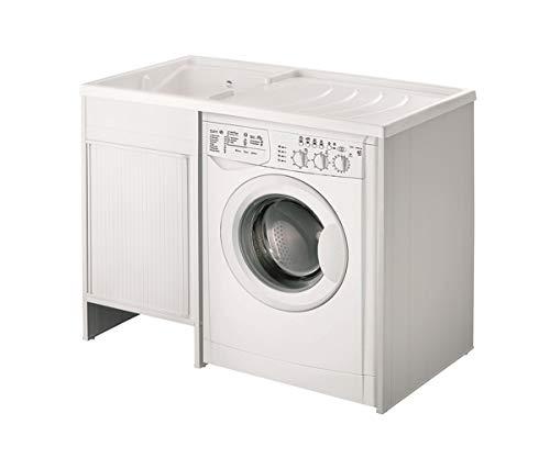 Mobile coprilavatrice con lavatoio lavapanni .109x60vasca sinistraserrandina
