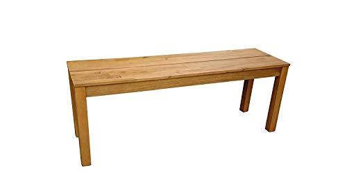 SAM Garten-Bank Elyar aus Akazien-Holz, FSC 100% Zertifiziert, 120 cm Breite, 2-Sitzer Holzbank, Balkon-Bank aus Akazien-Holz geölt, Garten-Möbel braun, Massiv-Holz-Bank für Terrasse