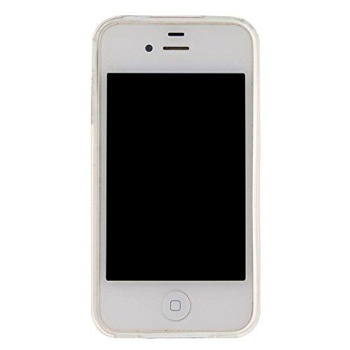 TOCASO Copertura di Cover in TPU Case per Apple iPhone 7 Custodia Silicone, Transparent Belle Creativo Disegni 3D Bling di lusso lucido Gloss Colorati Glitter Brillantini Sparkle Fluido Liquido cover  Golden Tower Eiffel
