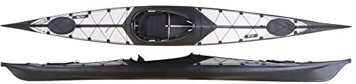 faltboot kajak Nortik Argo Faltboot leichtes faltbares Kajak, Einer Faltkajak, Faltboot NEU, Farbe:Grau-Schwarz