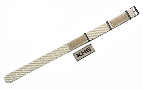 KHS Natoband X|TAC Light Tan, Ersatzarmband, KHS.EBNXTLT5.20 (Nylon-armband Tan)