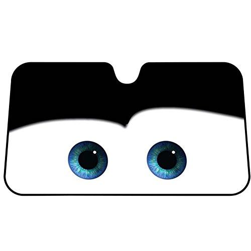 Fancylande Auto Sonnenschutz Cars Windschutzscheibe Auto Universal Sonnenschutz Visier Cartoon Augen 130 * 70