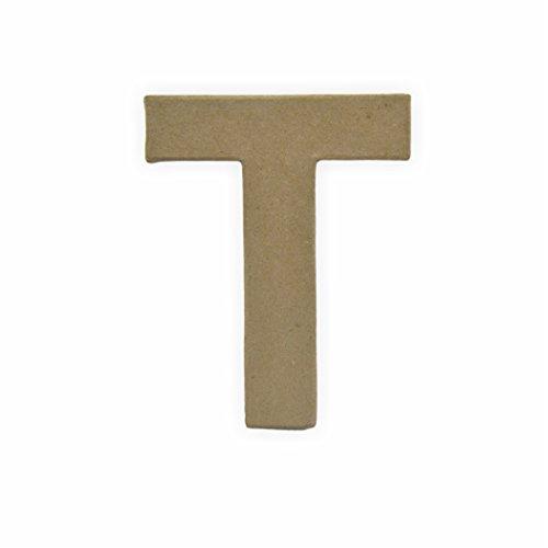 Preisvergleich Produktbild Papp Buchstabe -T- 10 x 3 cm zum bemalen und bekleben