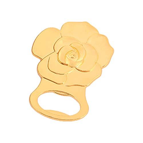 Shenxay Gold Rose Blume Bier Flaschenöffner tragbare Bar Küche Zubehör Dekoration Hochzeit Partei begünstigt Geschenk