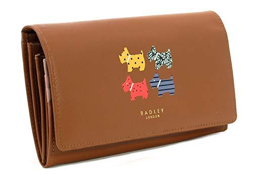 RADLEY Large Flapover Matinee Geldbörse 'Quad Dog' aus hellbraunem Leder - Matinee-geldbörse