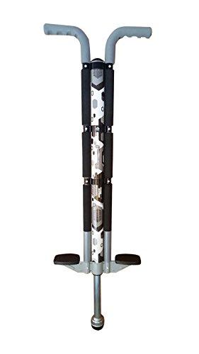 ThinkGizmos Bâton Sauteur pour Les utilisateurs de 36kg à 72 kg - Le bâton Sauteur de Aero Legend pour Les garçons et Les Filles - Une Construction Solide de qualité (Blanc & Noir)