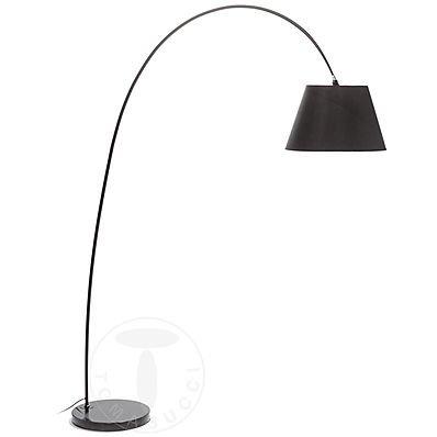 Tomasucci Smarty lampada da terra con base in marmo nero
