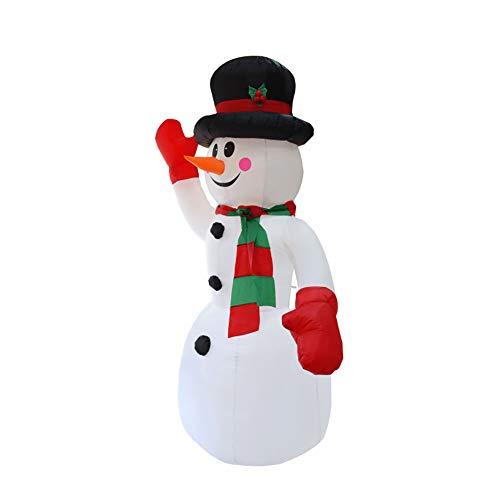 8 Fuß Aufblasbar Schneemann LED Luftdurchlässig Weihnachten Modell Selbstaufblasend Sprengung Hof Dekoration (Dekorationen Hof Aufblasbar Weihnachten)