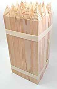 25 Estacas madera pino - jardín - Señalización 40 x 3,5 x 3,5 cm - set de 25 unidades