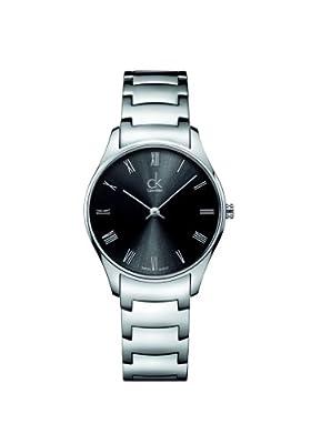 Calvin Klein 0 - Reloj de cuarzo para mujer, con correa de acero inoxidable, color plateado de Calvin Klein