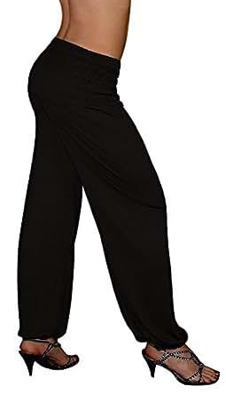 S&LU tolle Damen Haremshose, Pluderhose in 4 Größen von XXS bis XXXXXXL (6XL) wählbar schwarz Einheitsgröße S-XXL