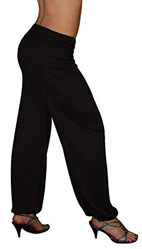 S&LU tolle Damen Haremshose, Pluderhose in 4 Größen - !NEU! Jetzt auch im Camouflage-/Tarn-Design !NEU! - von XXS bis XXXXXXL (6XL) wählbar Schwarz (Machen Sie Ein Gorilla Kostüm)
