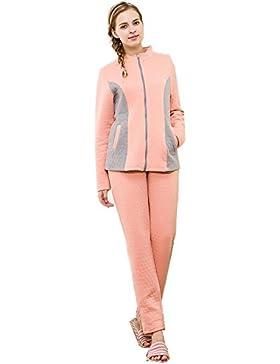 Manica lunga cotone pigiama vestaglia inverno nightwear Ultima donna che può essere indossato all'aperto , xl