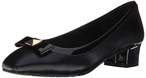 Stile Soft di Hush Puppies pompa Santel Dress Black Elegance Polyurethane/Patent Polyurethane