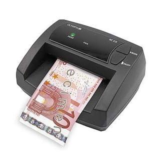 Olympia NC 315 Automatisches Geldscheinprüfgerät (Updatebar, Euro-Noten, Optionaler Akku-Betrieb, Mobiler Geldscheinprüfer mit LED-Leuchten)