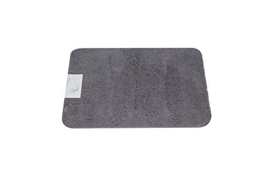 Cazsplash Microfaser Badteppich grau 50 x 80 x 2,5 cm
