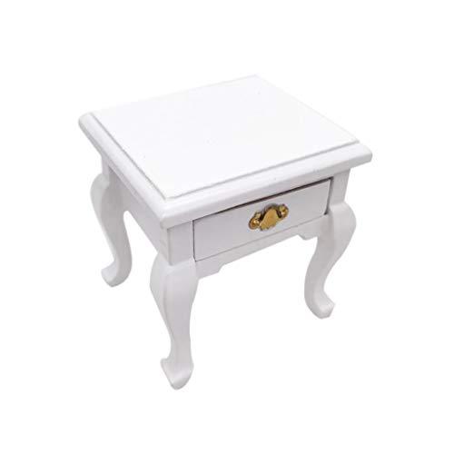erthome 1/12 Mini Puppenhaus Möbel Schrank Miniatur Wohnzimmer Tisch Kinder Spielzeug Familie Spiel Modell, das Mädchen mögen (Weiß) - Mini Baby Schrank