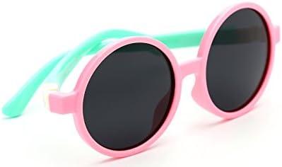 Tijn niños TODDLER Flexiable de goma redonda polarizadas gafas de sol para niña