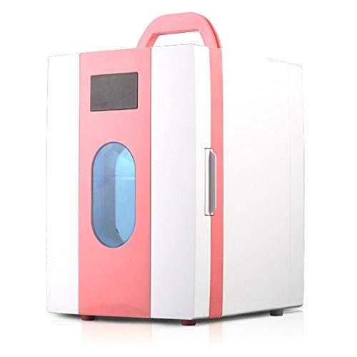 Preisvergleich Produktbild Xndz Auto Kühlschrank Thermoelektrische Kühlbox Mini Auto Kühlschrank für Reise Camping Picknick 12 v 110 v 10 L (Farbe : Rosa)