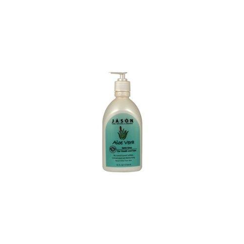Jason Aloe Vera Satin (Satin Soap Aloe Vera (473ml) x 6 Pack by Jasons Natural)