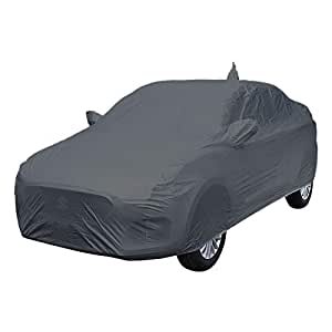ARNV Mirror Pocket, Fabric Car Body Cover for Maruti Swift Dzire (Grey)