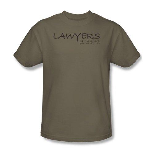 Avvocati Do It...Pay-Maglietta da uomo, modello Safari, colore: verde Safari Green