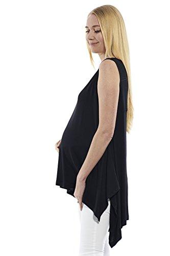 motherway - Chemise - Asymétrique - Uni - Femme Noir
