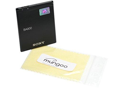 Batería Original Sony BA900LiIon para Sony Xperia E1, Xperia J, Xperia L, Xperia M, Xperia TX, Xperia E1, Xperia E1Dual + Gratis mungoo® Pantalla paño de limpieza