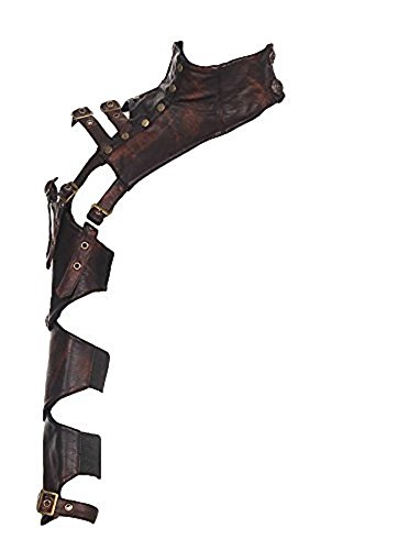 Preisvergleich Produktbild RQ-BL Steampunk EINSEITIGE ARMSTULPE Kunstleder Vintage Leder ausgefallen Damen Rüstung,  Größe:S