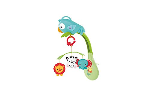 Mattel Fisher-Price CHR11 3-in-1 Rainforest Mobile mit Musik