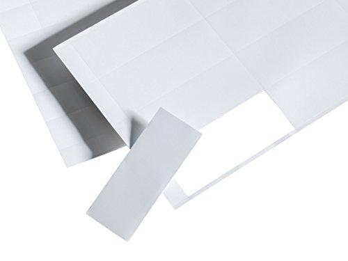 Perforierte Papieretiketten für COROSET magnetische Etikettenhalter / Etikettenträger / Etikettenhüllen / Einstecktaschen (10 Stück, 110 x 34, 10 Stk. je Bogen).)