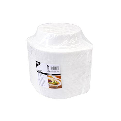 PAPSTAR Kunststoff-Suppenterrine, rund, weiá, 500 ml, Weiss, 20 x 15.7 x 20.8 cm