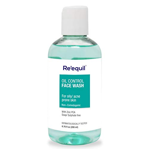 Oil Control Anti Acne Face Wash for Oily, Sensitive and Acne Prone Skin - 200ml, Sulphate Free, Soap Free | Re'equil