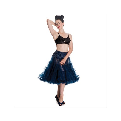 Hell Bunny Petticoat SWING LONG navy Navy
