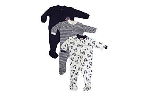 MINI BERRY A Gallu Gatti Boys Long Sleeve Cotton Sleep Suit Romper Set of 3 (Blue,6-9 Months)