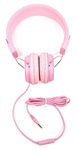 Casque réglable rose pour enfant, pour MP3 Sony NW-A20 Series Walkman NW-A25HN et NW-A27HN – repliable avec microphone intégré - Duragadget