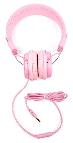 Rosa Over-Ear Kinder Kopfhörer Stereo für Aldi Medion LifeTab LifeTab P10606 / P8524 / E10411 / X10311 (MD 60654) / P10603 / X10313 / P10327 / E10511 (MD 60637) / X10605 (MD 60656) / P10602 Tablet-PCs