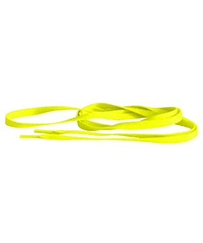 TubeLaces White Flat Schnürsenkel Schnürsenkel Neon Yellow (Neongelb)