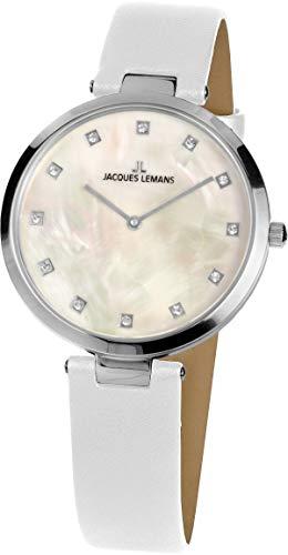 Jacques Lemans Reloj Analógico para Mujer de Cuarzo con Correa en Cuero 1-2001F