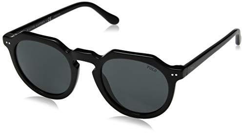 Ray-Ban Herren 0PH4138 Sonnenbrille, Schwarz (Shiny Black), 49