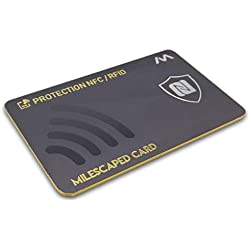 Carte Anti RFID/NFC MILESCAPED v2 - Protection Carte Bancaire sans Contact. Anti-Piratage, Anti-Fraude, Protège Vos Cartes de Crédit, Cartes Bleues, Passeport - Essayez-la au Magasin !