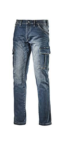 Diadora Utility Pantalone Jeans CARGO DENIM (33, Dirty Washing)
