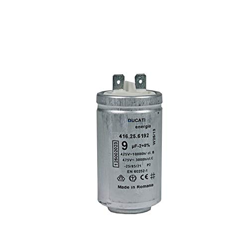 Motor-Anlaufkondensator 9 µF uF 450V Electrolux AEG 125002022 DUCATI